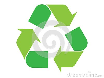 Green recycle symbol Stock Photo