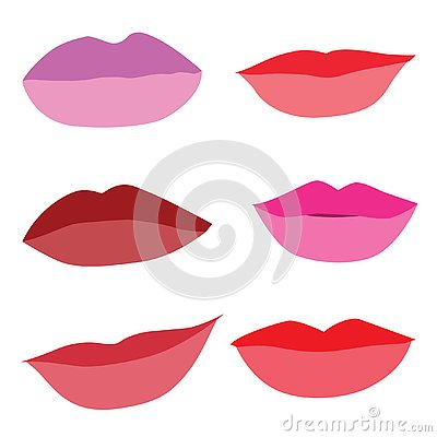 Mouth Lips close up Design Vector Illustration