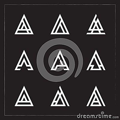 A triangle Letter logo Bundle Stock Photo