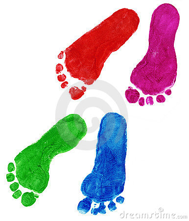 Free Print Of Foots Of The Child Stock Image - 337111