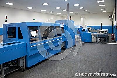 Print shop (press printing) - Finishing line