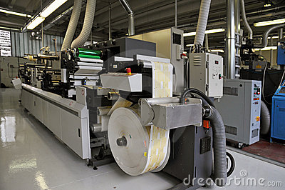 Print shop: UV flexo press printing