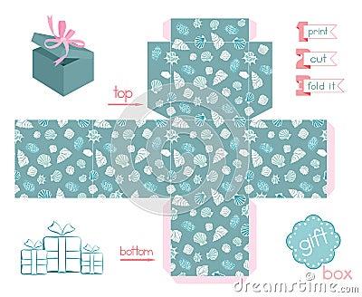 Printable Gift Box Various Shells