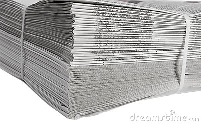 Printed and bound newspapers