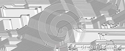 Printed circuit - banner - 3D