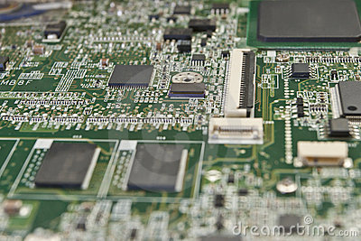 Printed circuit board for electronic components