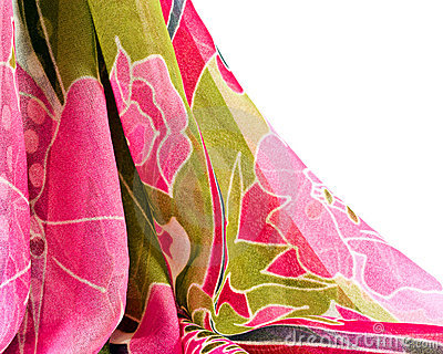 Printed fabric with flowers