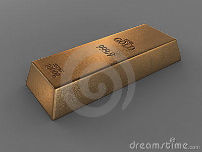 Printed gold bar