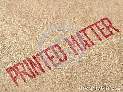 Printed matter cardboard
