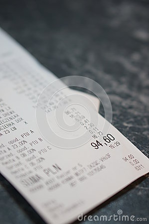 Printed receipt
