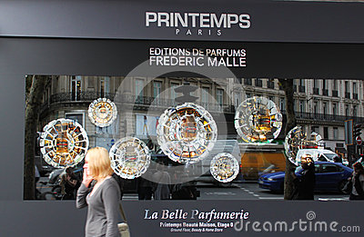 Printemps stores in Paris Editorial Stock Image