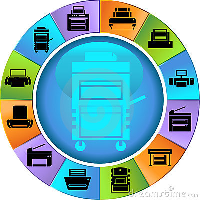 Free Printer / Copy Machine Wheel Royalty Free Stock Photo - 9416935