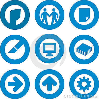 Printer icon set
