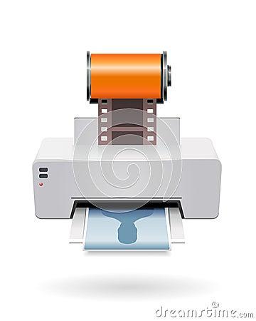 Printing camera film