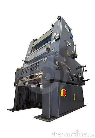 Printing press isolated