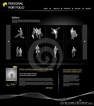Printpersonal portfolio website template