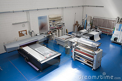 Printshop With Cutting Plotter