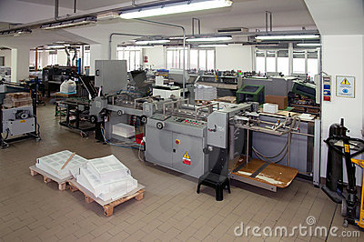 Printshop: post press finishing line