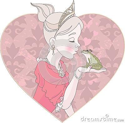 Prinzessin Kissing Frog