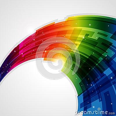 Priorità bassa astratta del Rainbow