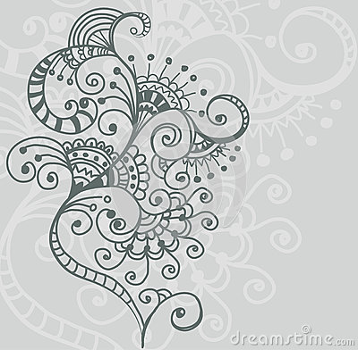 Priorit bassa floreale alla moda fiori disegnati a mano for Fiori disegnati