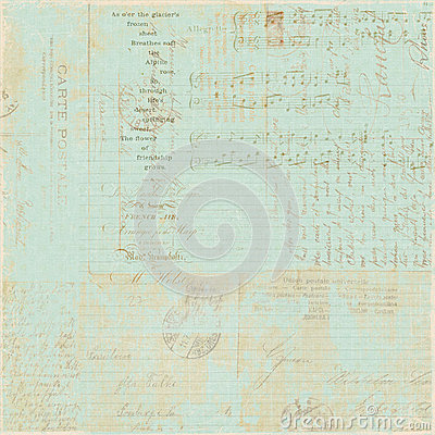 Priorità bassa francese del collage dello scritto della lettera dell annata