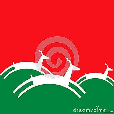Priorità bassa delle renne di natale