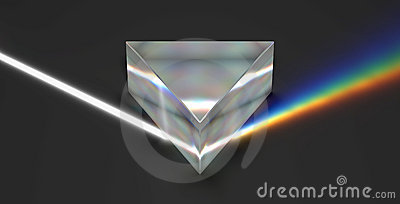 Prism optical rainbow spectrum light ray