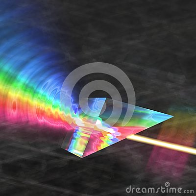 Prism reflecting light