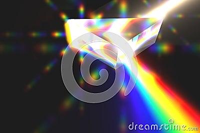 Prism refracting light