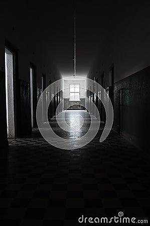 Prison corridor Editorial Stock Photo