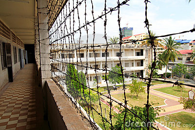 Prison at Tuol Sleng Genocide Museum Editorial Image