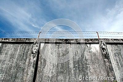 The prison walls