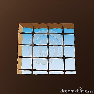 Prison window (vector)