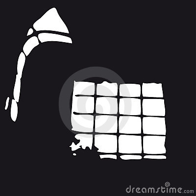 Prison window (vector)