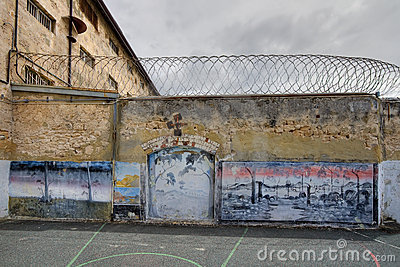 Prison yard artwork