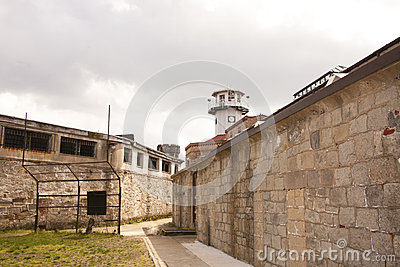 Prison Yard and Guard Tower