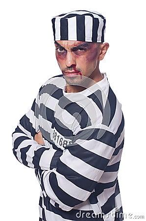 Prisoner with bad bruises
