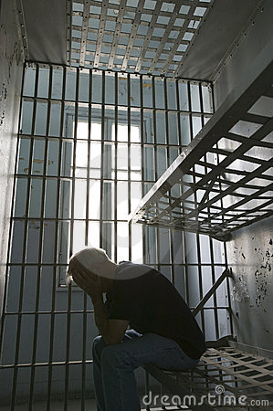 Free Prisoner In Cell Royalty Free Stock Images - 2105099