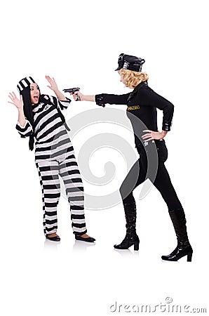Prisoner and police