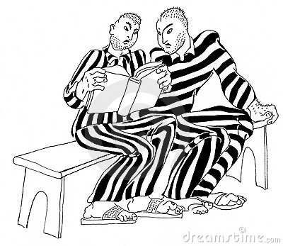 Prisoners read a criminal code