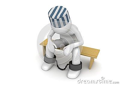Prisonnier sur un banc