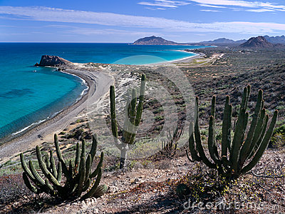 Pristine beach, blue sea, Baja California