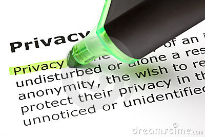 Privacy  highlighted in green