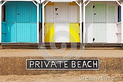 Private beach huts