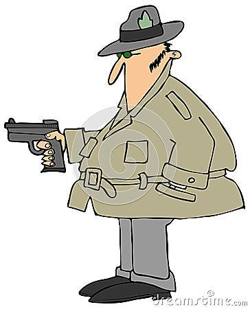 Private eye with a gun