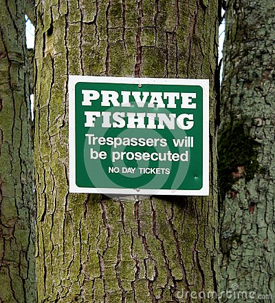 Private Fishing Sign