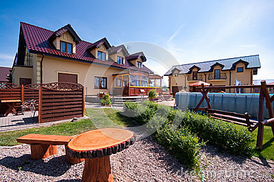 Private home backyard