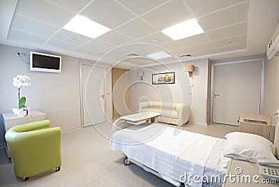 Private hospital room interior