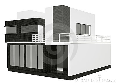 Private house exterior 3d